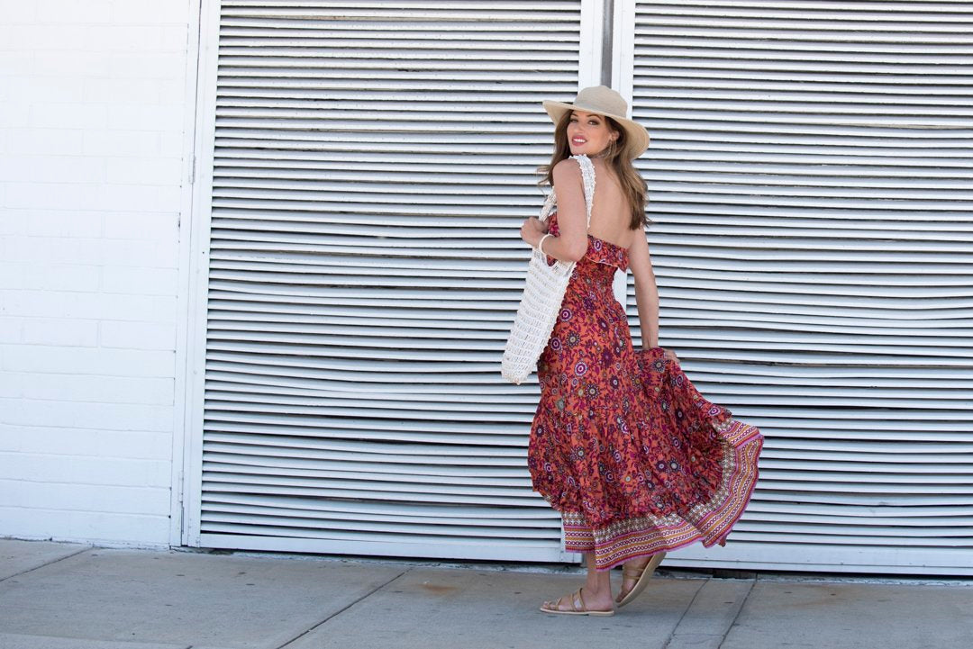 KALANI maxi dress in Sangria