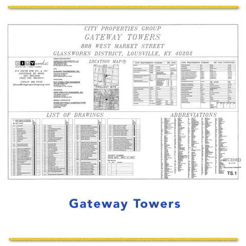 Gateway  Towers  Training  Drawings