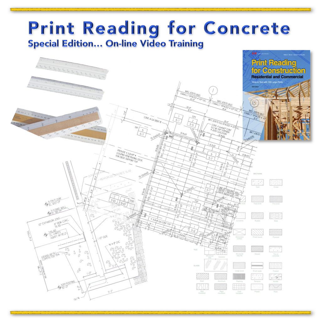 Print   Reading    for   Concrete....  Training VIDEO  Series