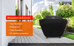 Monument Waterproof Heavy Duty Gas BBQ Grill Cover,62-inches for 6-Burner,SKU 96083