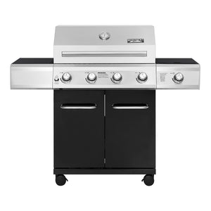 NEW!!! 13478 4-Burner Propane Gas Grill in Black with LED Controls and Side Burner