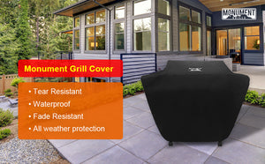Monument Waterproof Heavy Duty Gas BBQ Grill Cover,54-inches for 4-Burner,SKU 98475