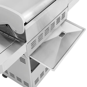 24367 4-Burner Propane Gas Grill, Stainless, LED Controls, Side & Side Sear Burners