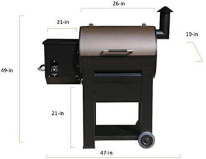 89679 Pellet Grill, 435 Square inch with Manual Control