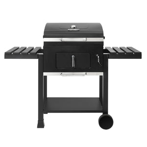 NEW!!! 52101 24-Inch Charcoal Grill with Side Tables, Black