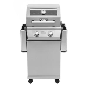 14633 2-Burner Propane Gas Grill in Stainless with Clear View Lid and LED Controls
