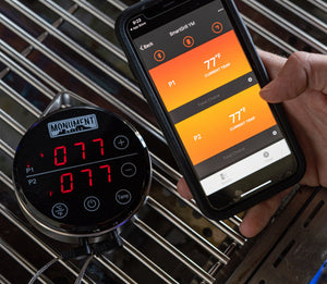 Bluetooth BBQ Thermometer With Touch Screen