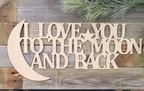 Wall Collage- I LOVE YOU TO THE MOON AND BACK