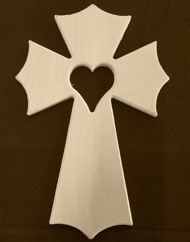 Gothic Cross w/Heart