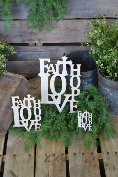 Wall Collage - FAITH-LOVE-HOPE