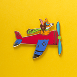 Airplane Pilot Cat and Dog Set in Red
