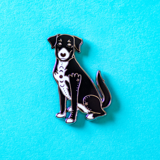 Astro the Black Labrador Retriever Mix Enamel Lapel Pin