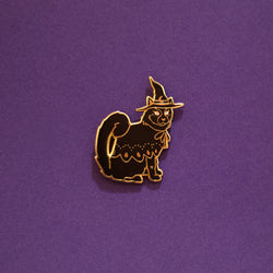 Chi Halloween Witch Kitty Cat Enamel Lapel Pin Animal Pet Cat Gift Accessories Flair
