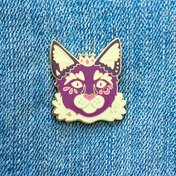 Purple Cat Prince Enamel Pin