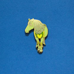 Horse Chinese Zodiac Enamel Lapel Pin Animal Gift Accessories Flair