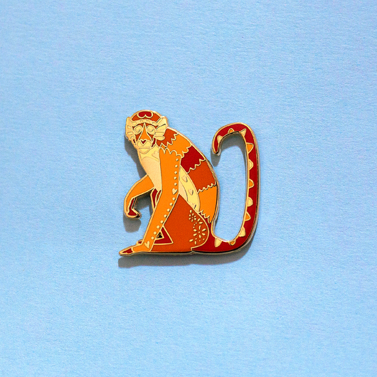 Monkey Chinese Zodiac Enamel Pin