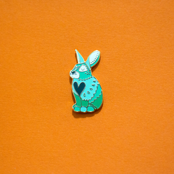 Rabbit Bunny Chinese Zodiac Enamel Lapel Pin Cute Gift Accessories Flair