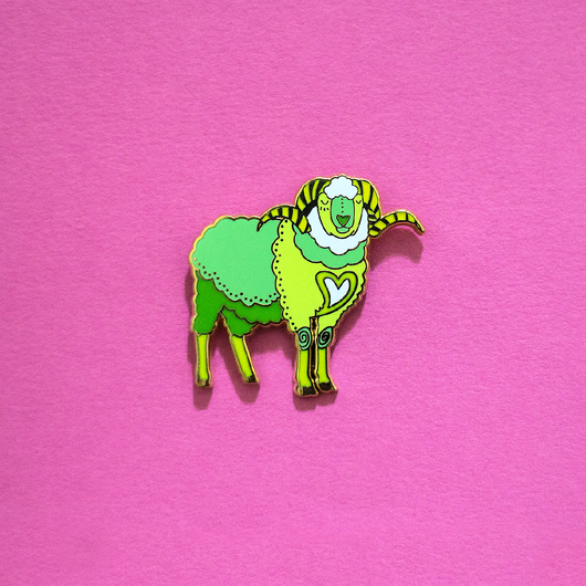 Sheep / Ram Chinese Zodiac Enamel Pin