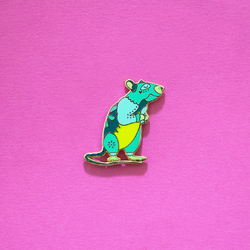 Rat Chinese Zodiac Enamel Lapel Pin Cute Gift Accessories Flair