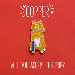 Copper Rachel's Dog on The Bachelorette Enamel Lapel Pin Cute Animal Pet Dog Gift Accessories Flair