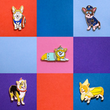 Lulu the Banana Corgi Party Limited Edition Enamel Lapel Pin