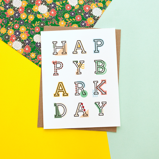 Happy Barkday Handmade Birthday Greeting Card