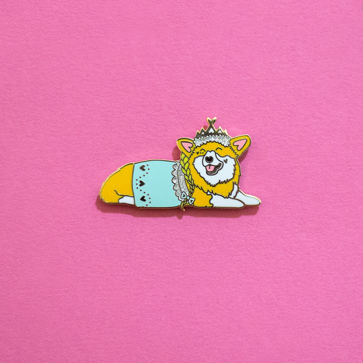 HazelBear the Princess Corgi Party Limited Edition Pin