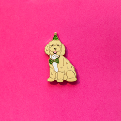 Party Pup Edgar Enamel Lapel Pin Animal Pet Dog Gift Accessories Flair