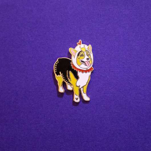 Missy the Chicken Corgi Party Limited Edition Pin
