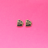 Pug Enamel Earrings