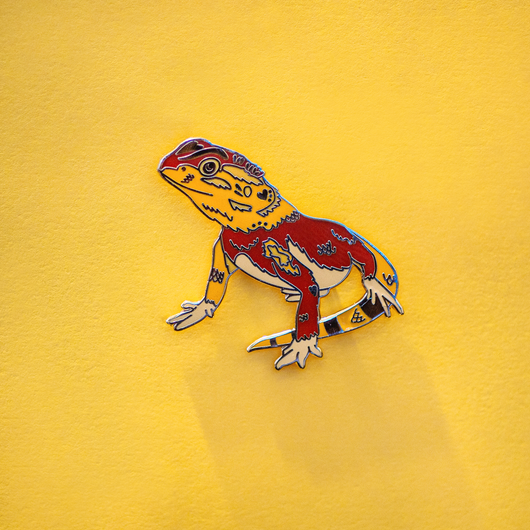 Bearded Dragon Enamel Lapel Pin