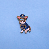 Toffee the Fun Police Corgi Party Limited Edition Pin