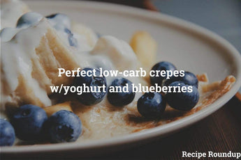 This week: Deliciously light crepes W/ cinnamon-yoghurt and blueberries