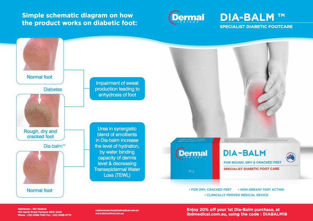 DIA-BALM: for prevention, treatment, and maintenance