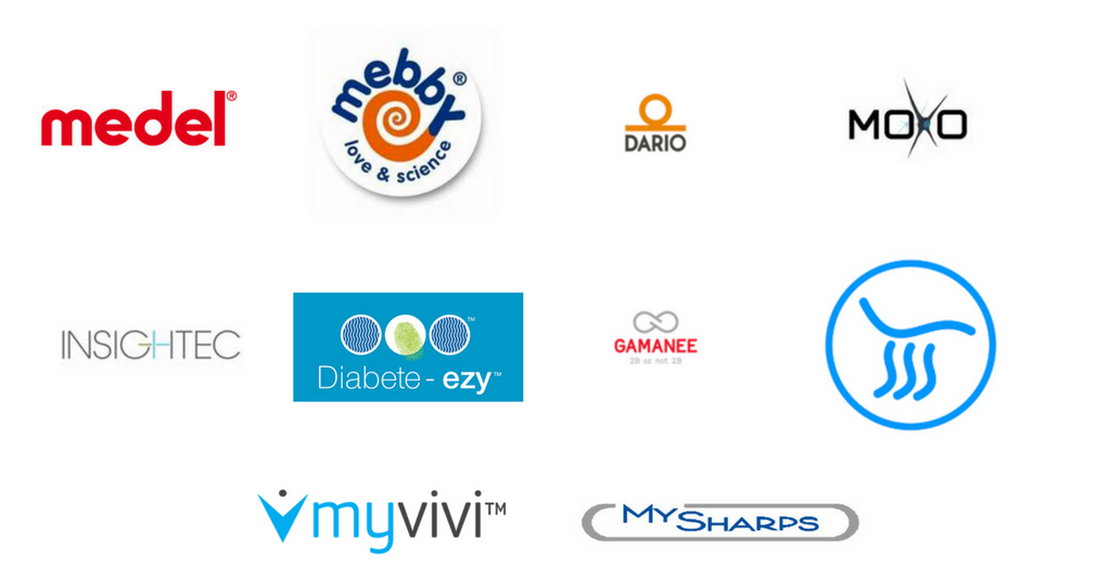 Our Brands - Medel - Moxo - Dario - MySharps - myvivi - Diabete-Ezy - IBD Medical
