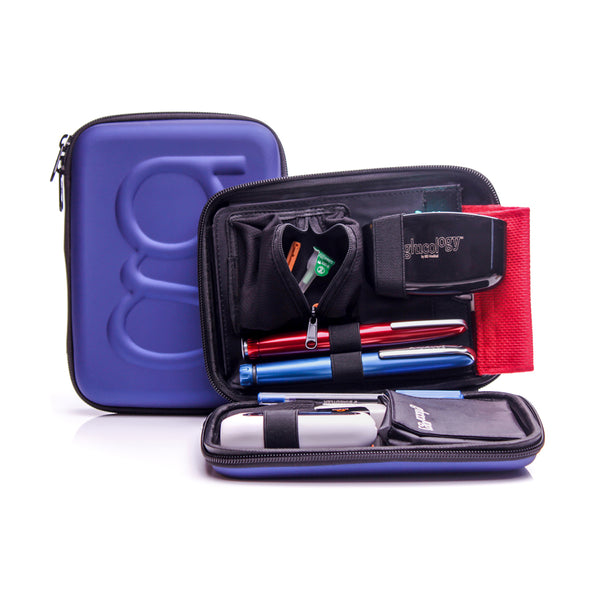 Blood Glucose Monitoring Kit | Matte Blue Case