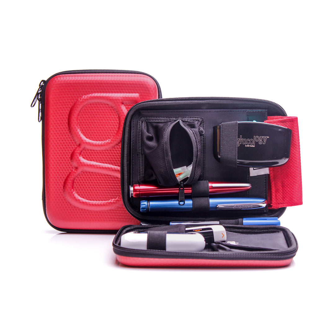 Glucology® Diabetes Travel Case | Red