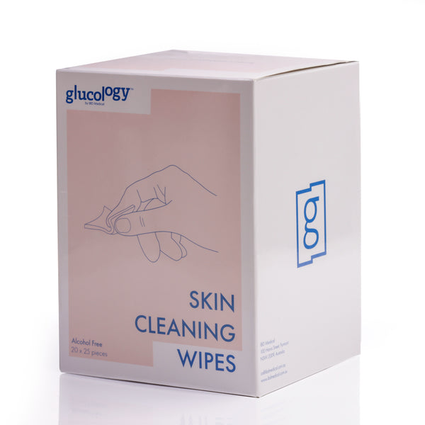 Glucology® Alcohol Free Finger Cleaning Wipes | 500 Wipes (20x25)
