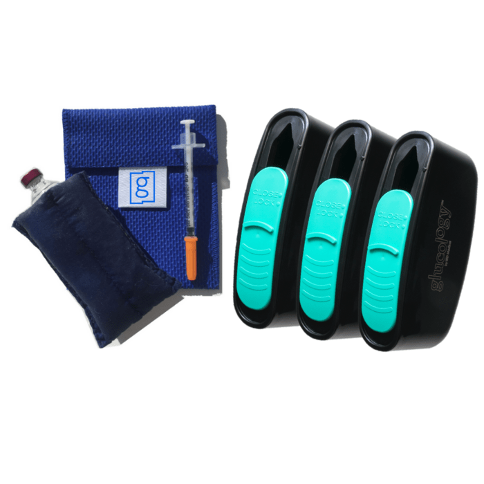 Glucology™ | Vial Pouch Small | 3x Containers - Shop Diabetes products & Accessories Online | Australia | IBD Medical