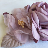 Sweet Floral Headband With Multiple Shades Of Purple Blooms