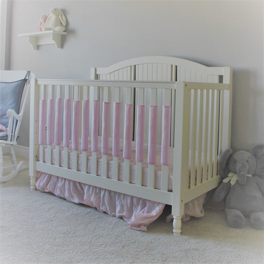 Crib Bumper Pad - Cotton Candy Pink