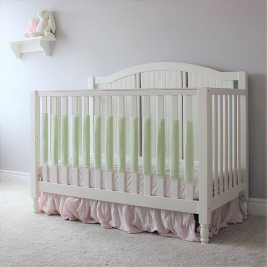 Crib Bumper Pad - Light Green