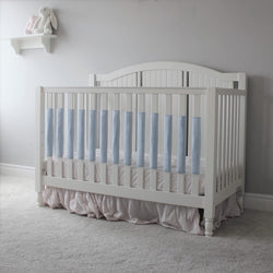 Crib Bumper Pad - Powder Blue