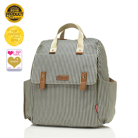 Robyn Convertible Backpack - Navy Stripe