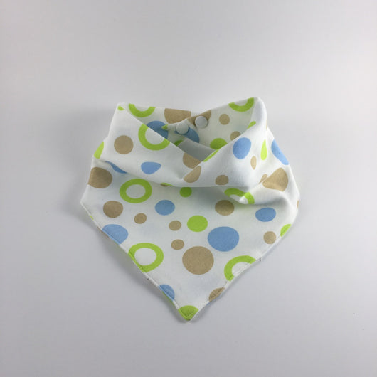 Bandana Bib - Blue Bubbles