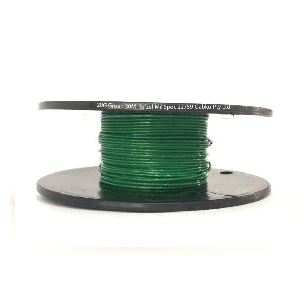 Tefzel Mil spec 22759 Wire | 20 Gauge-GREEN-30M Roll | 20G-5RL GN | Price inc GST: