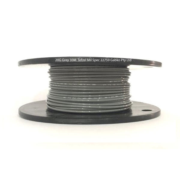 Tefzel Mil spec 22759 Wire | 20 Gauge-GREY-30M Roll | 20G-8RL GY | Price inc GST: