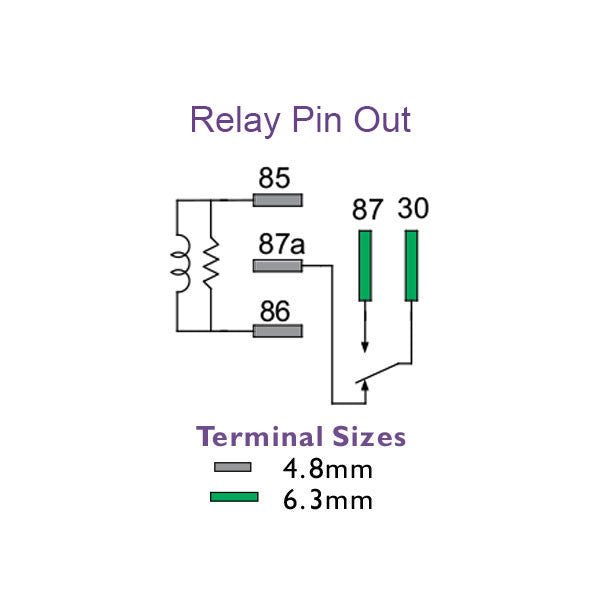 Micro Relay 12 Volt Change Over 5 Pin 35/20 Amp