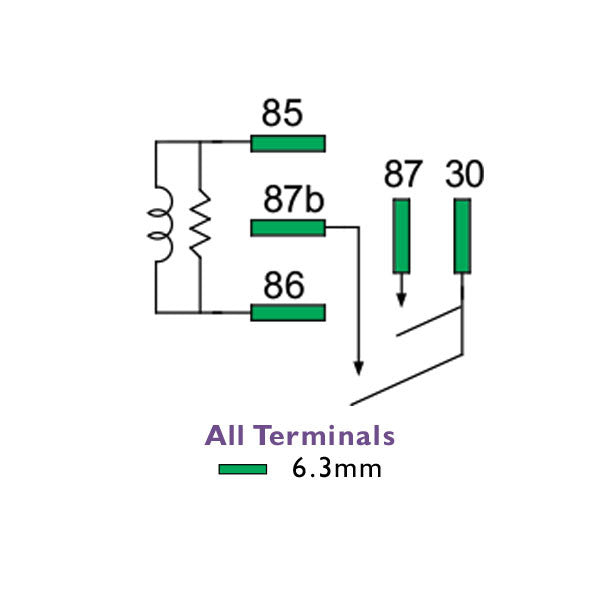 5 Pack | Mini Relay 12 Volt 2 x 30 Amp Normally Open 5 Pin | 1230-N0-BR5 | Price inc GST: