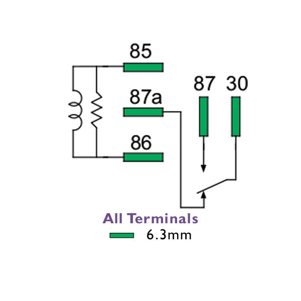 Mini Relay 24 Volt 20/15 Amp Change Over N/Closed 5 Pin | 2420-C0-BR1 | Price inc GST: